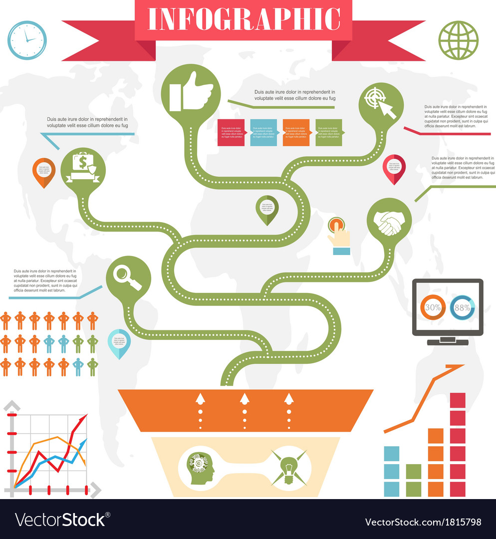 Business steps development infographics