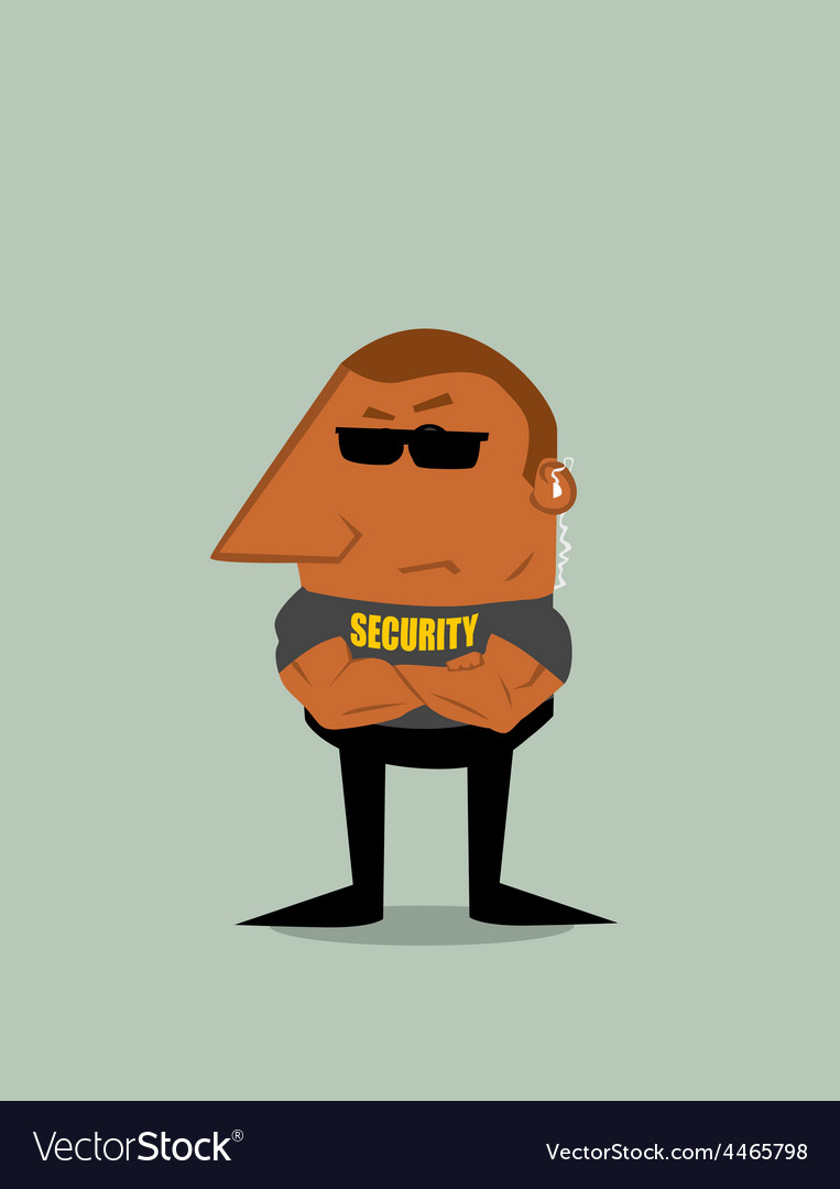 Cartoon Security man