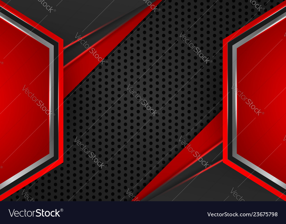 Geometric Red And Black Color Abstract Background