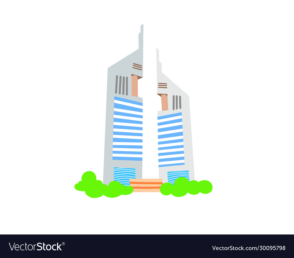 Hand drawing icon two skyscrapers