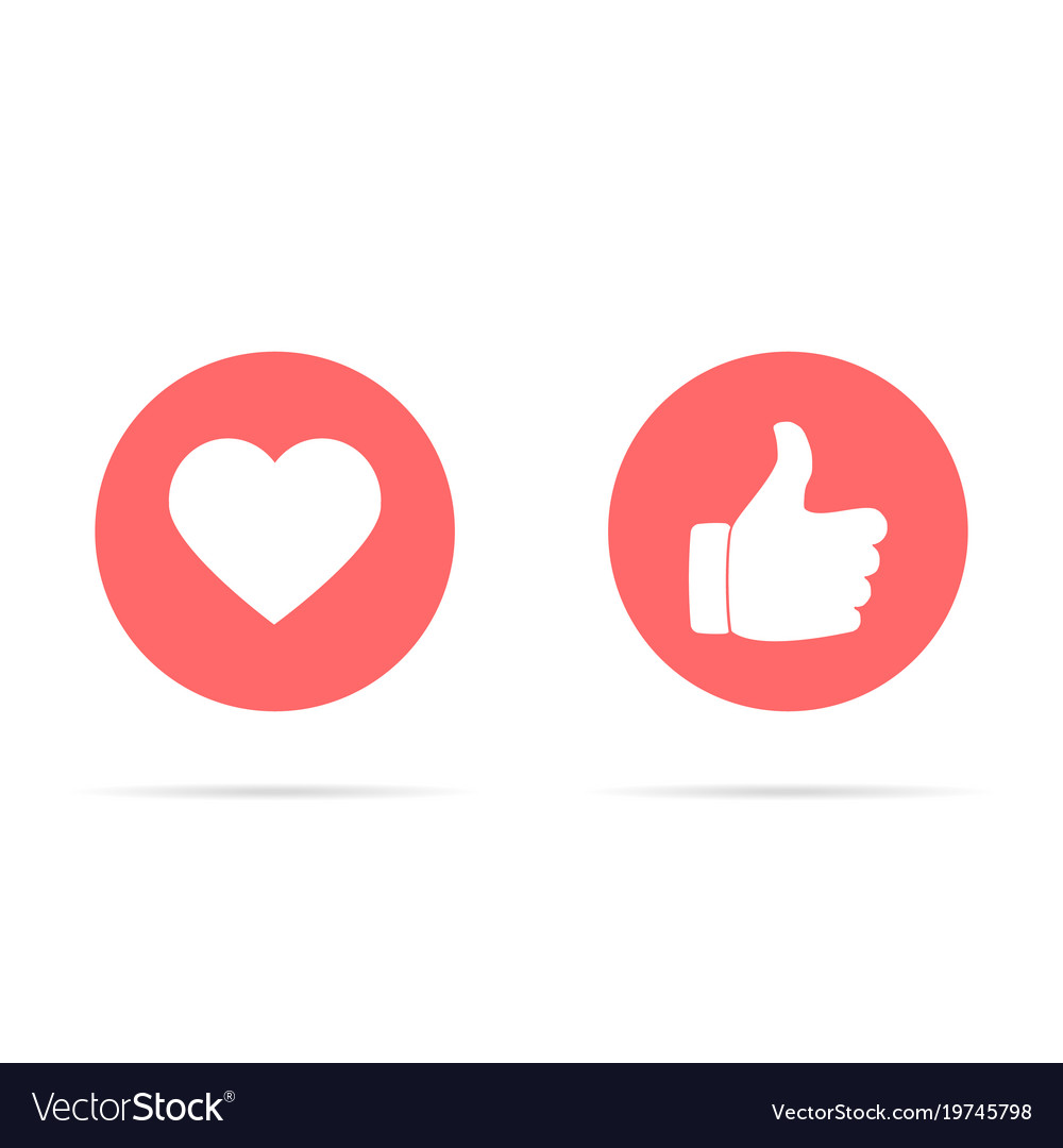 Heart and like icon