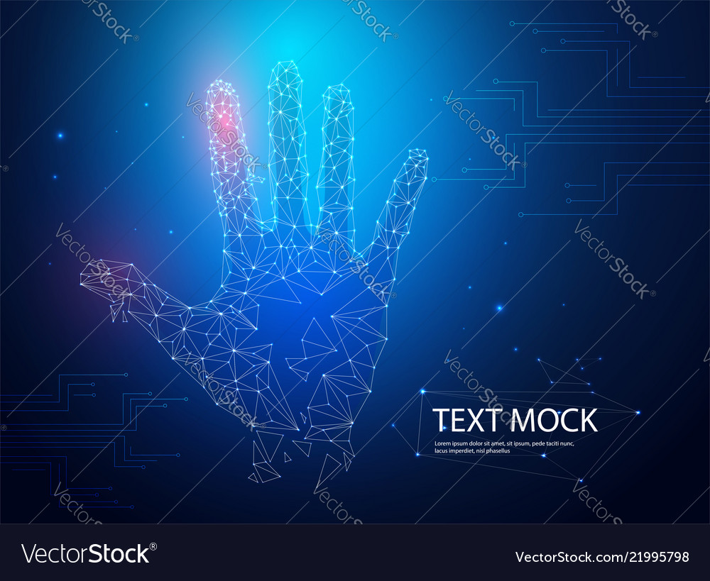 Hologram hands of lines and points scanning