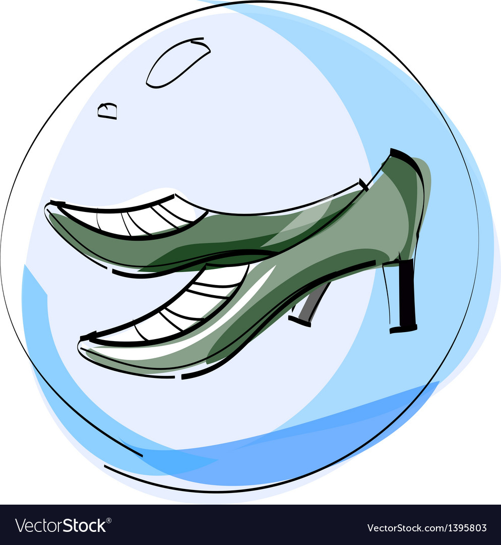 A pair of shoes in bubble