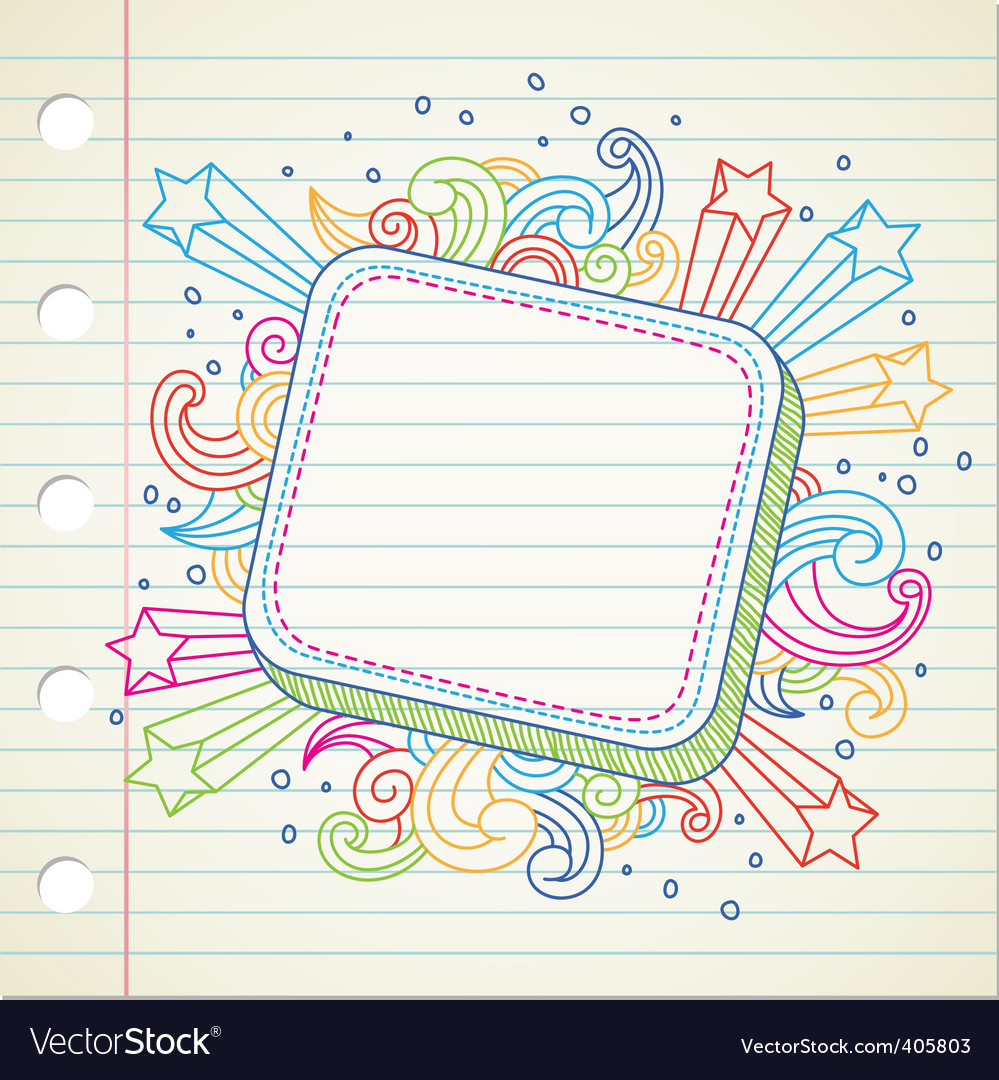 Banner doodle vector image