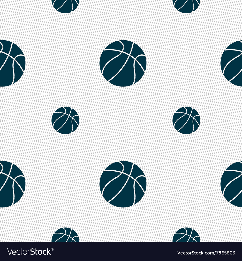 Basketball icon sign Seamless pattern with