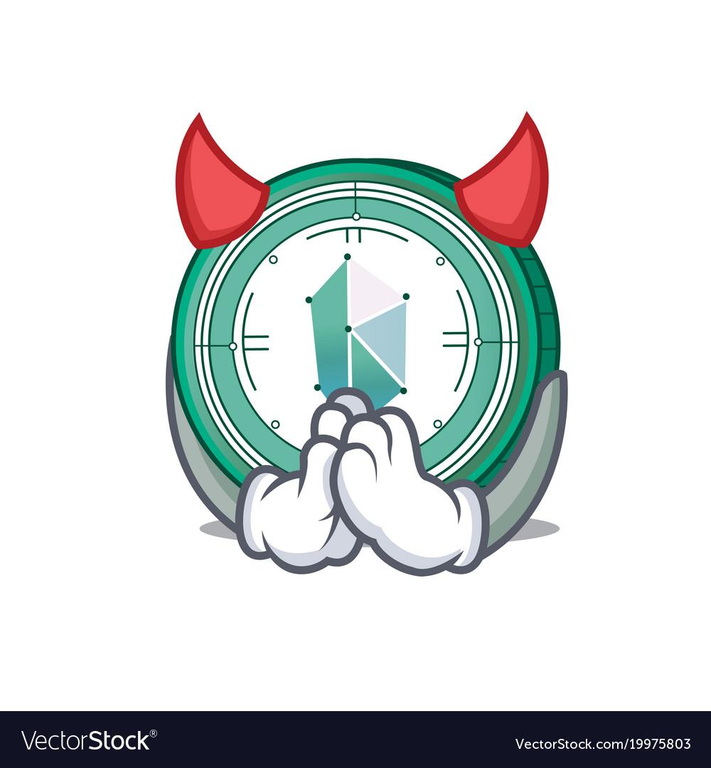 Devil kyber network mascot cartoon vector image