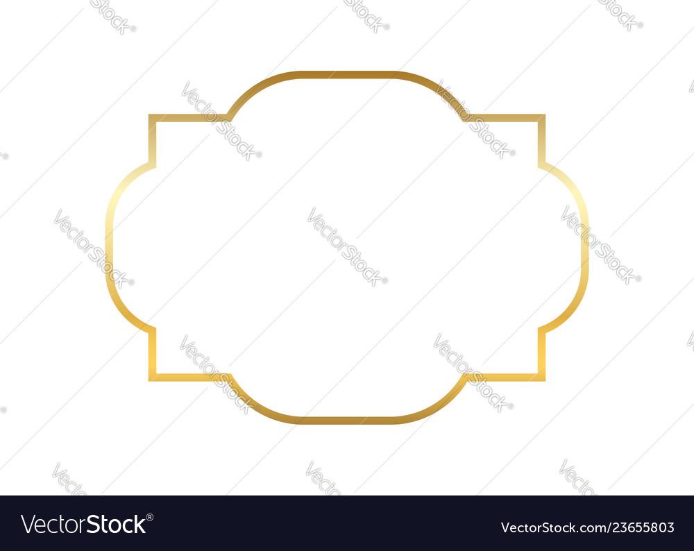 Gold frame beautiful simple golden design