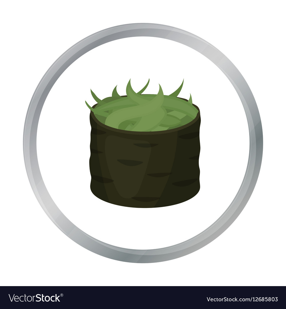 Gunkan maki icon in cartoon style isolated on