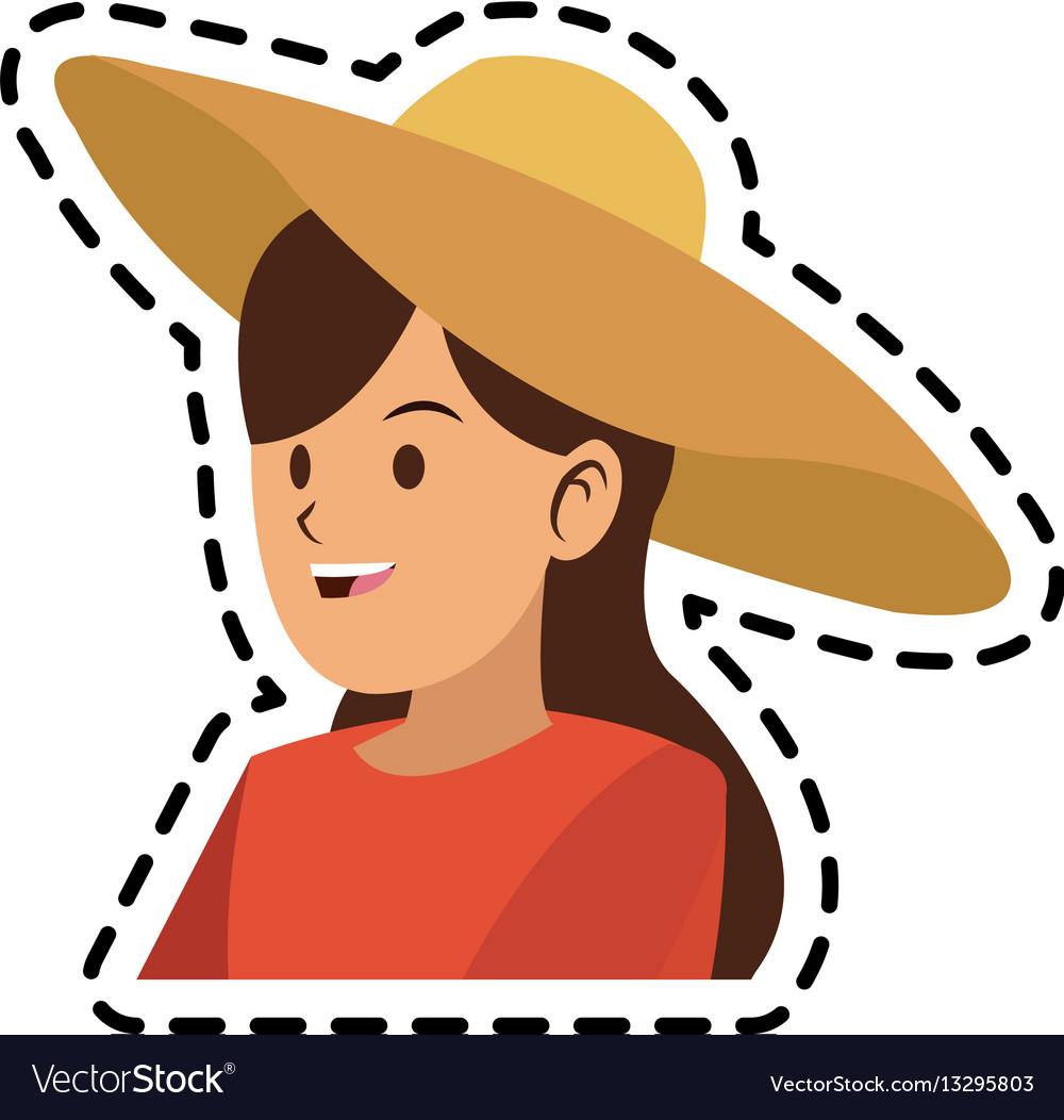 Happy pretty woman icon image
