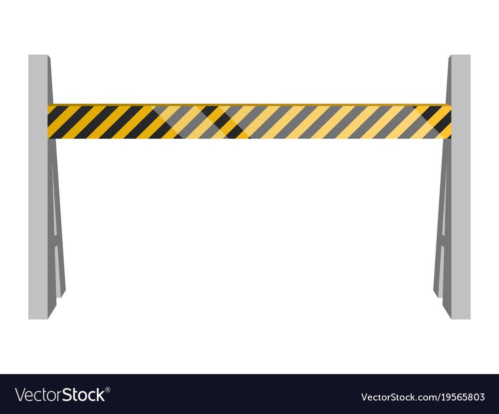 Isolated traffic barricade