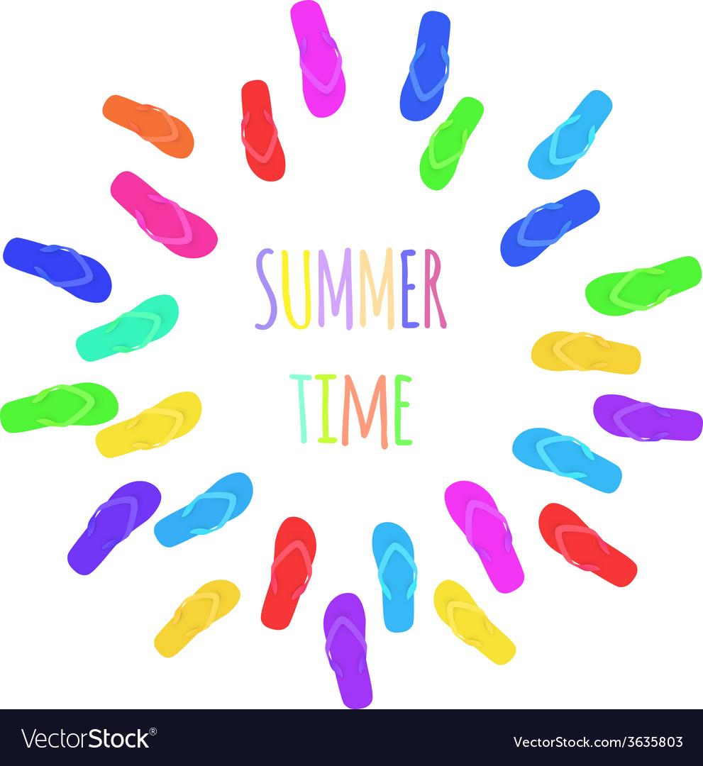 Summer time Slippers Banner
