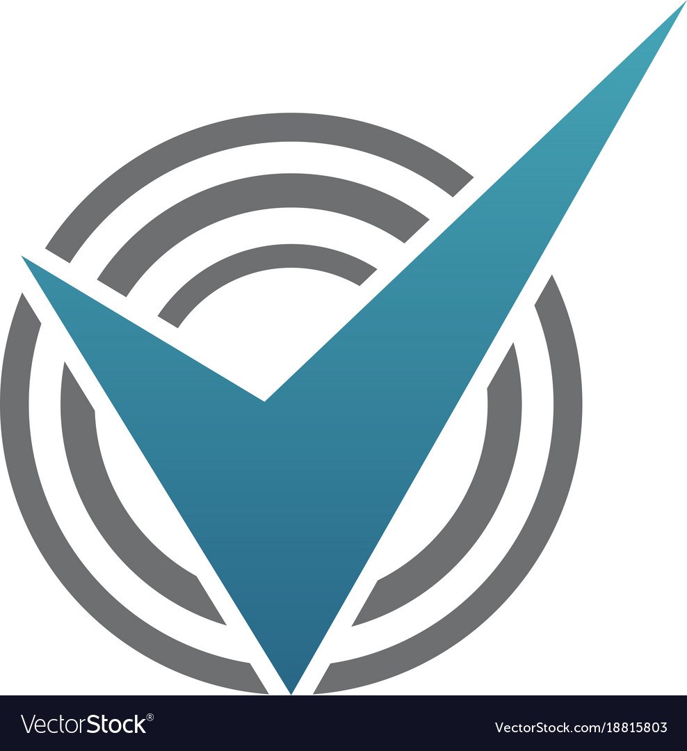 Verified qualification vector image