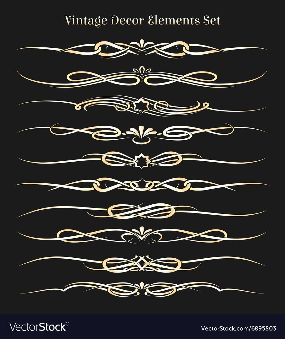 Vintage Decor Elements Set vector image