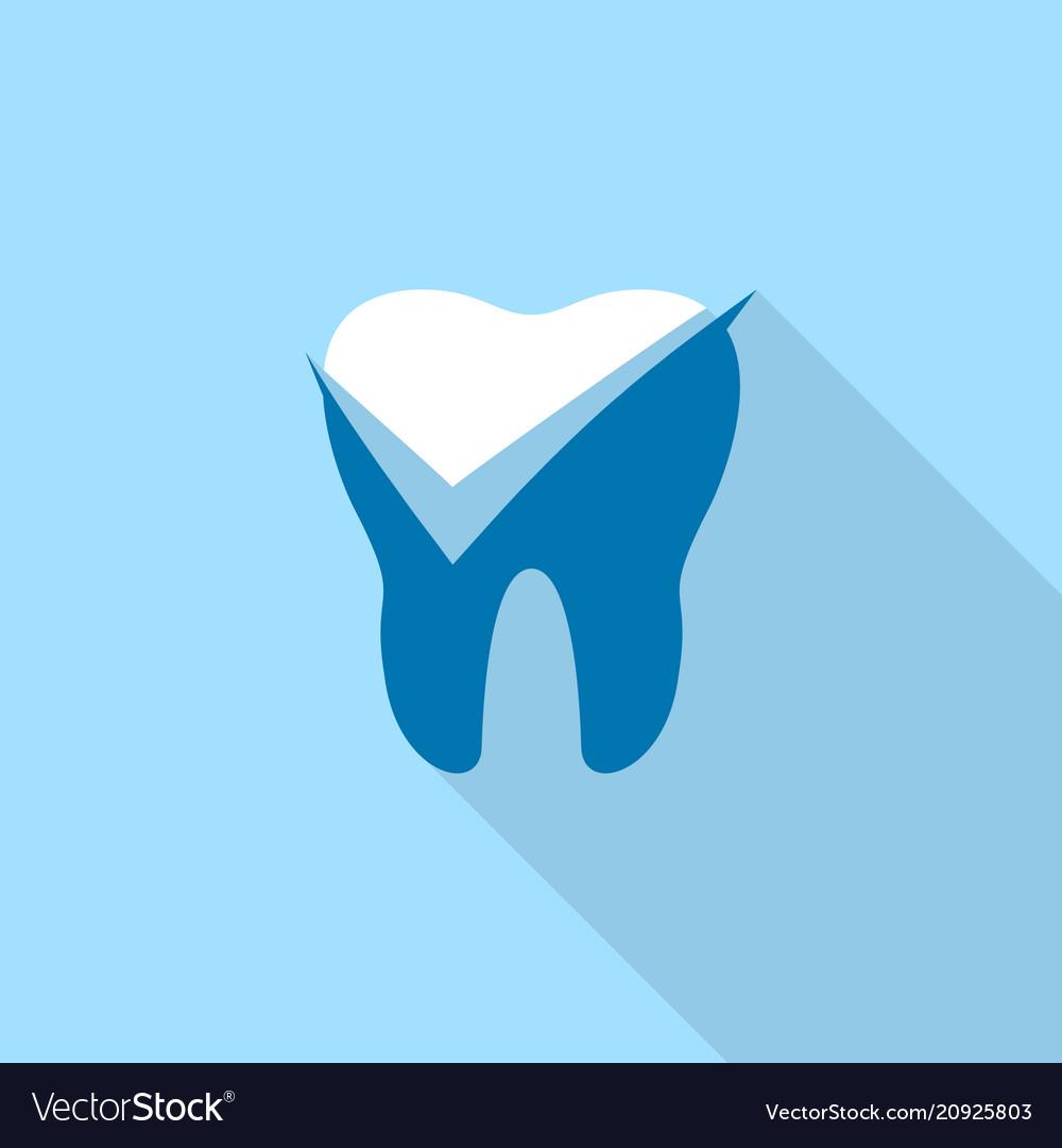 Yes mark dental logo icon flat style