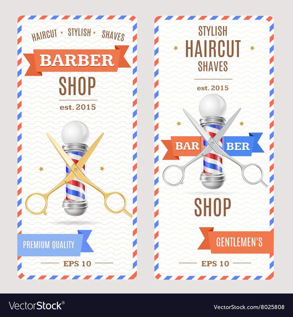 barber shop banners flyers card royalty free vector image
