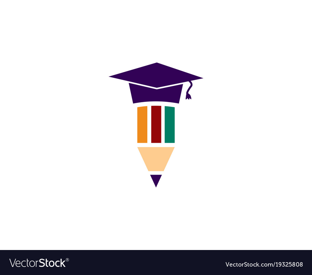 education logo template royalty free vector image