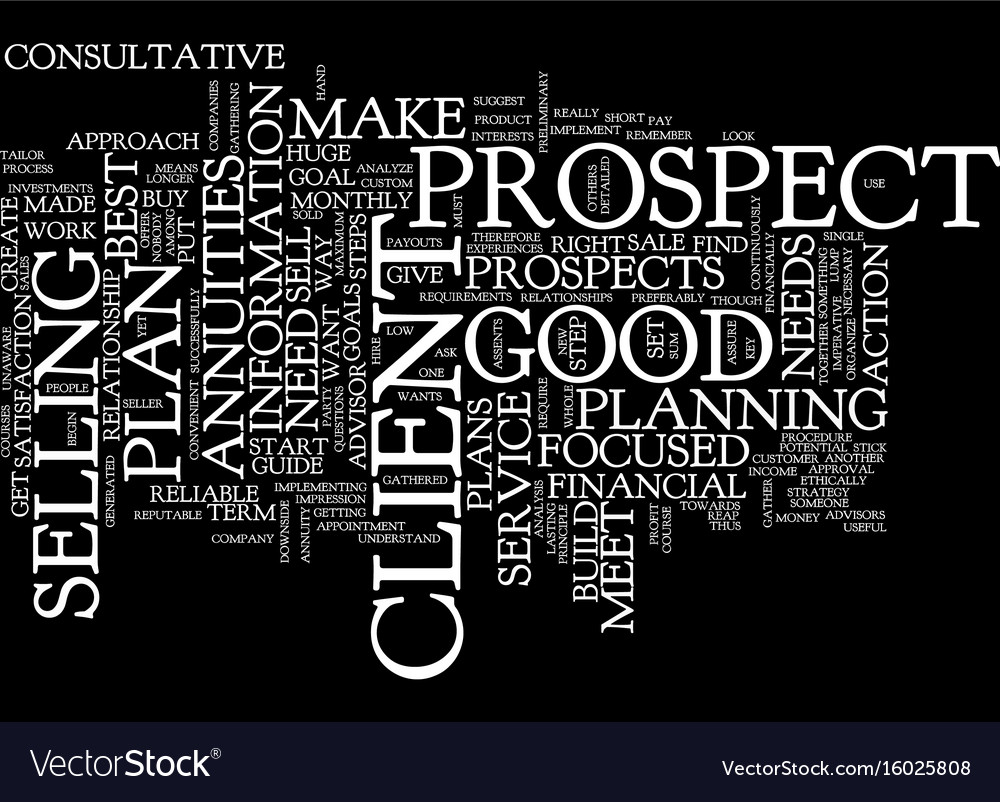 Formula to sell annuities text background word vector image