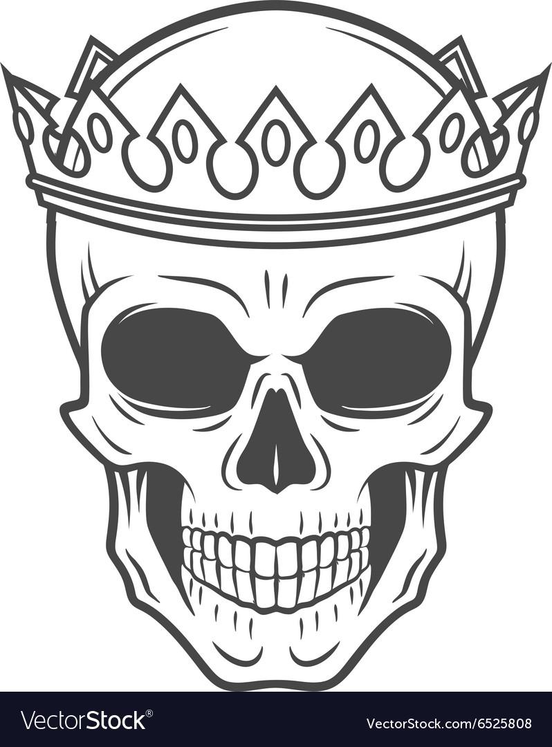 Skull King Crown design element Vintage Royal t