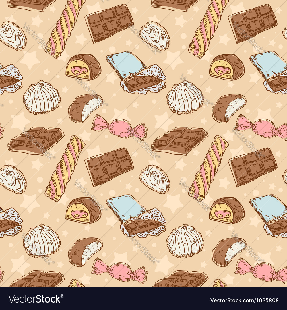 Vintage seamless texture with sweets