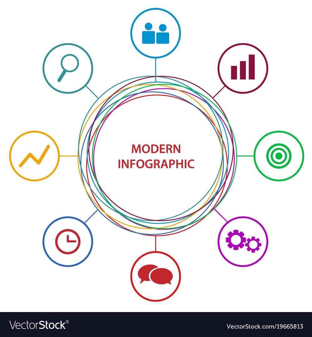 Abstract business circle infographic