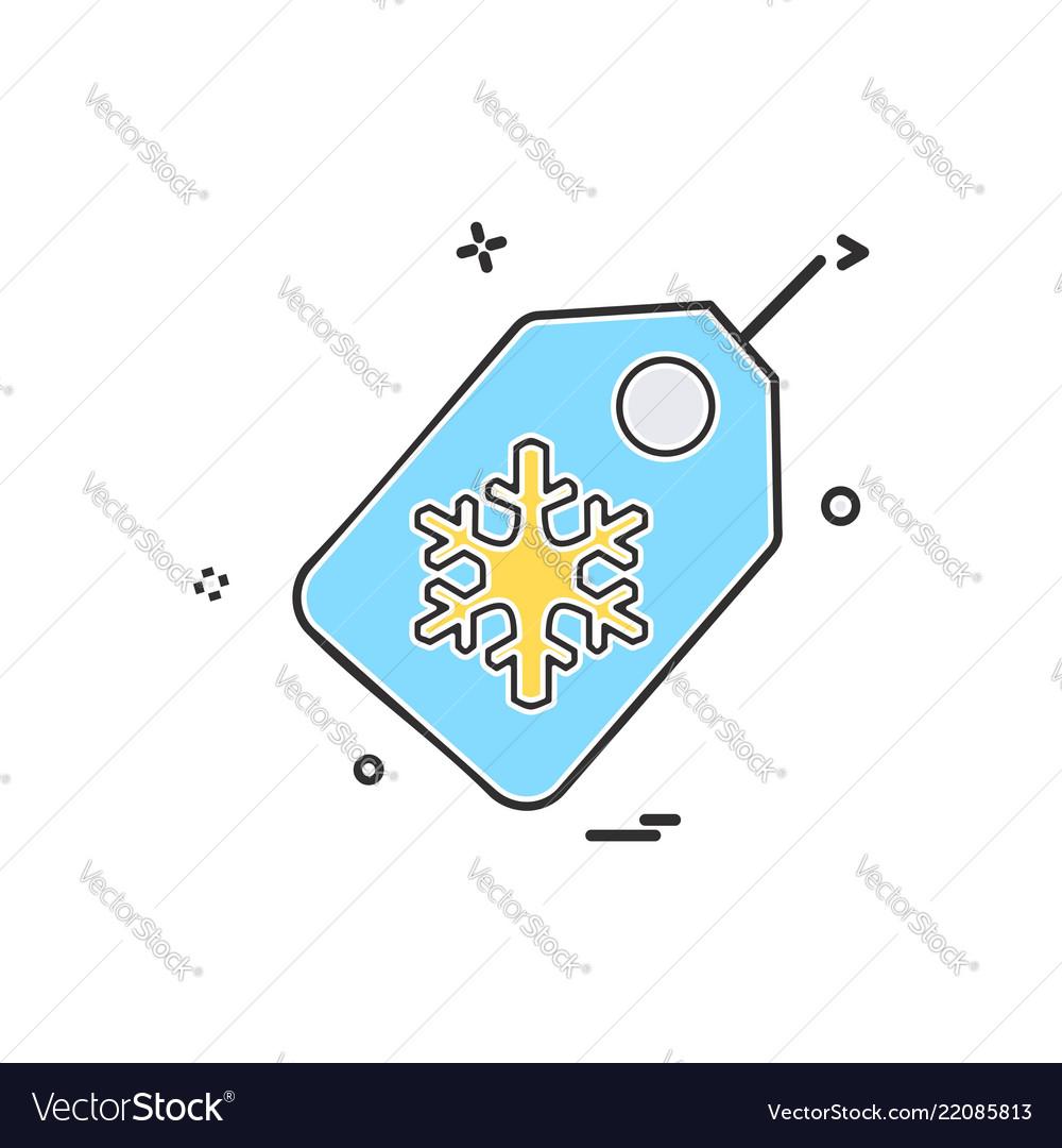Christmas tag icon design