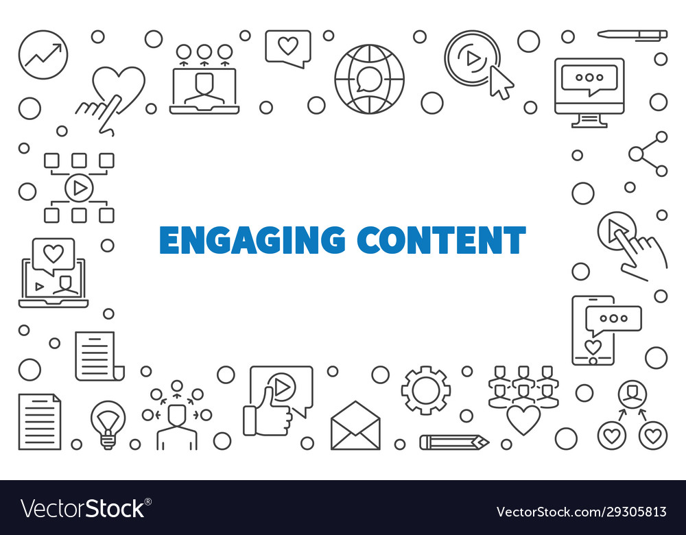 Engaging content concept simple outline