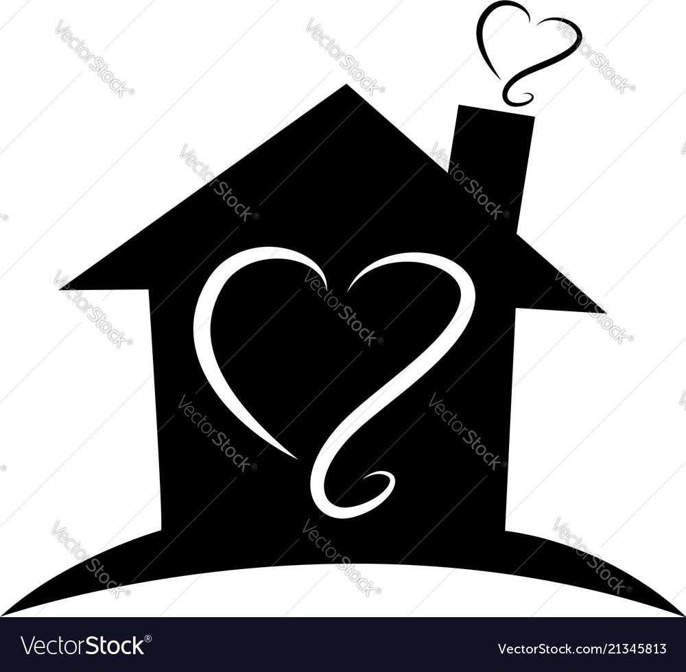 Home black silhouette house outline logo