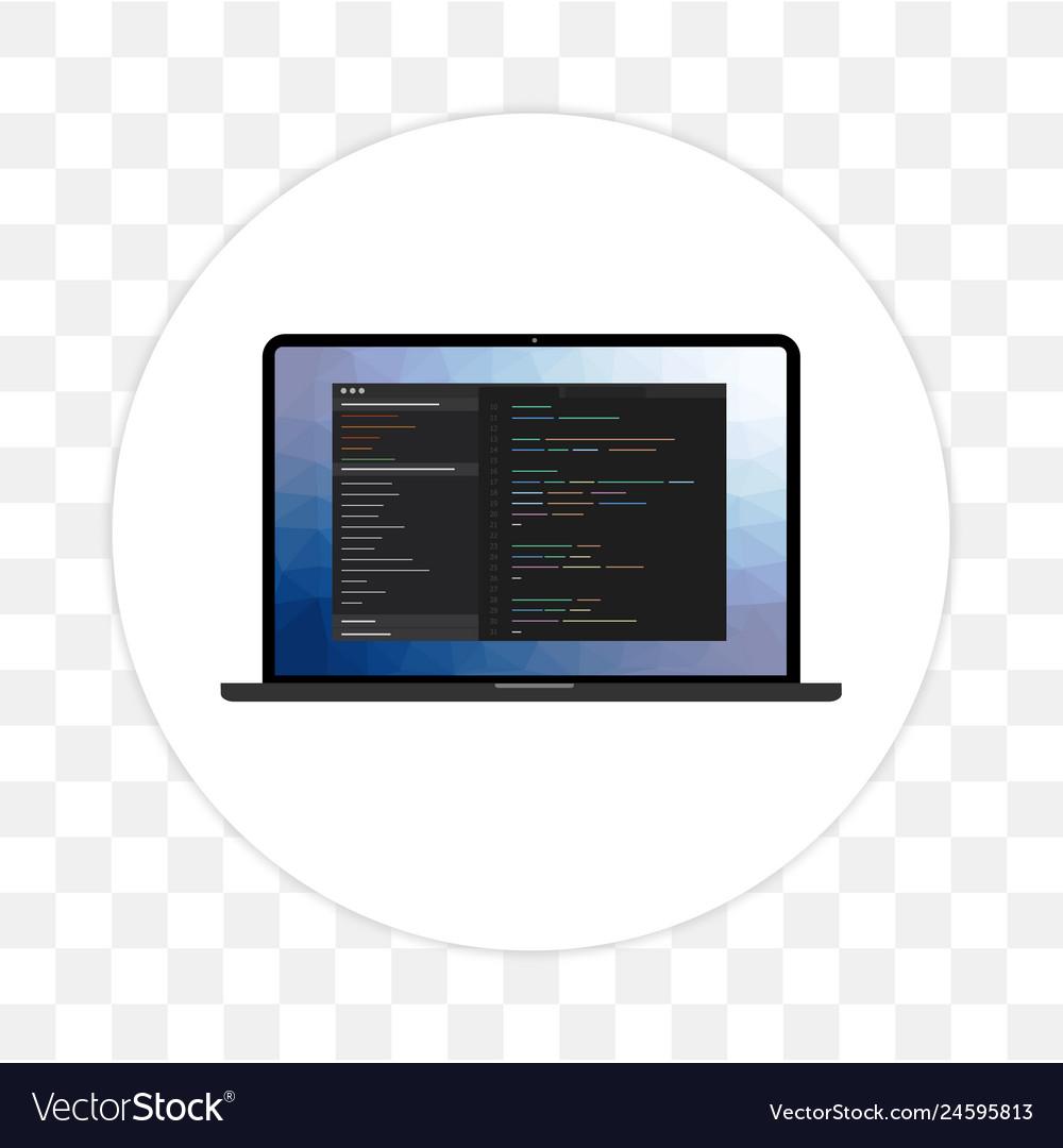 Programming language and web development icon