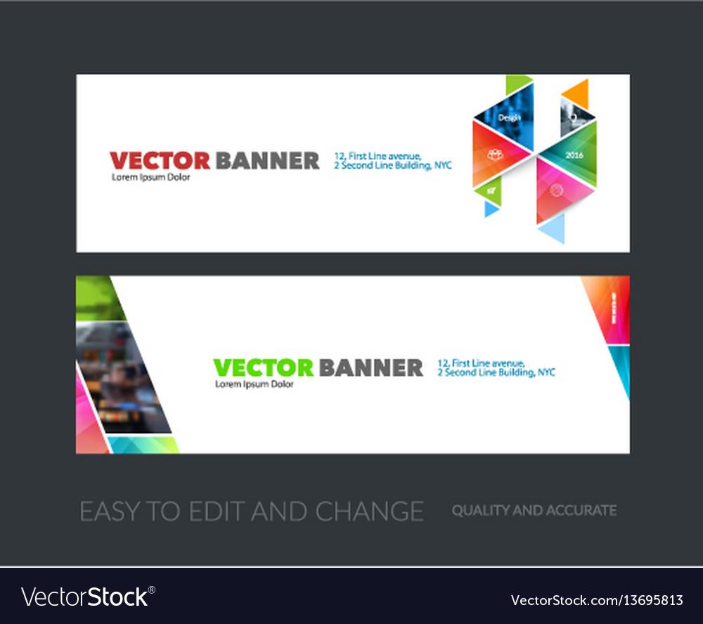 Set of modern horizontal website banners