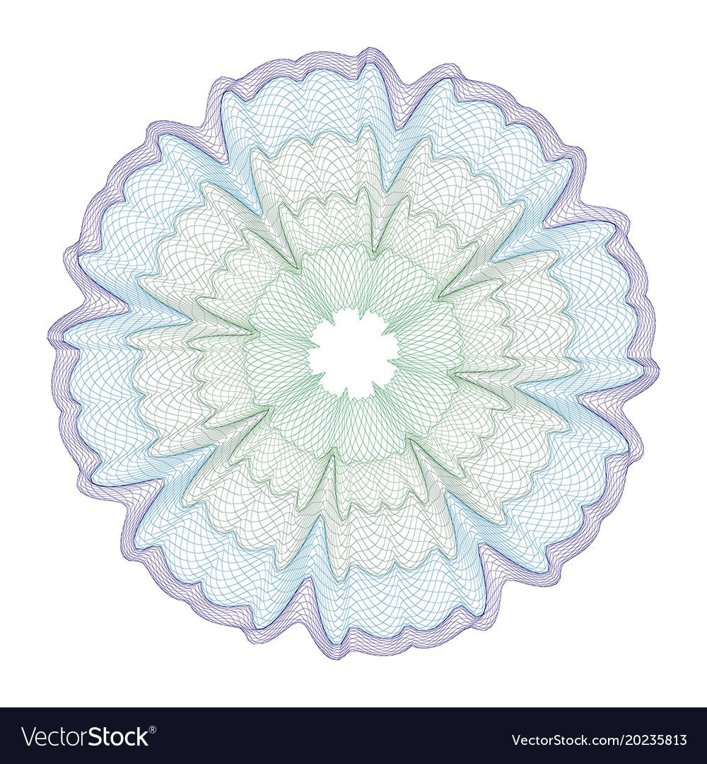 Watermark guilloche design for background