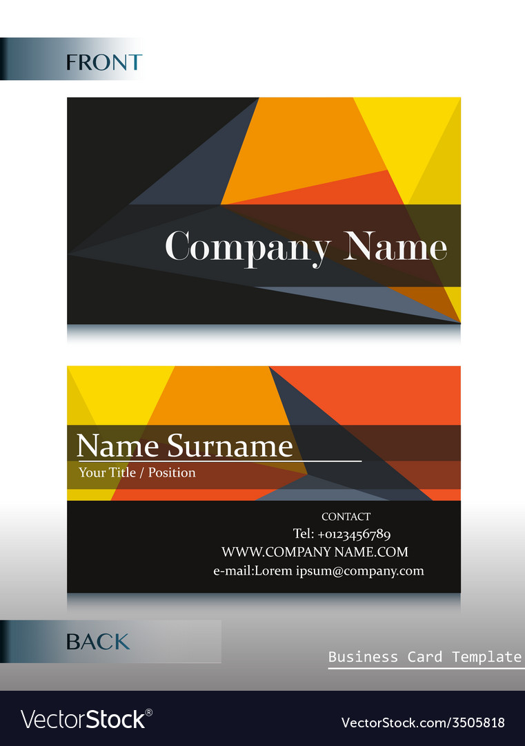 a company calling card vector image - Calling Card