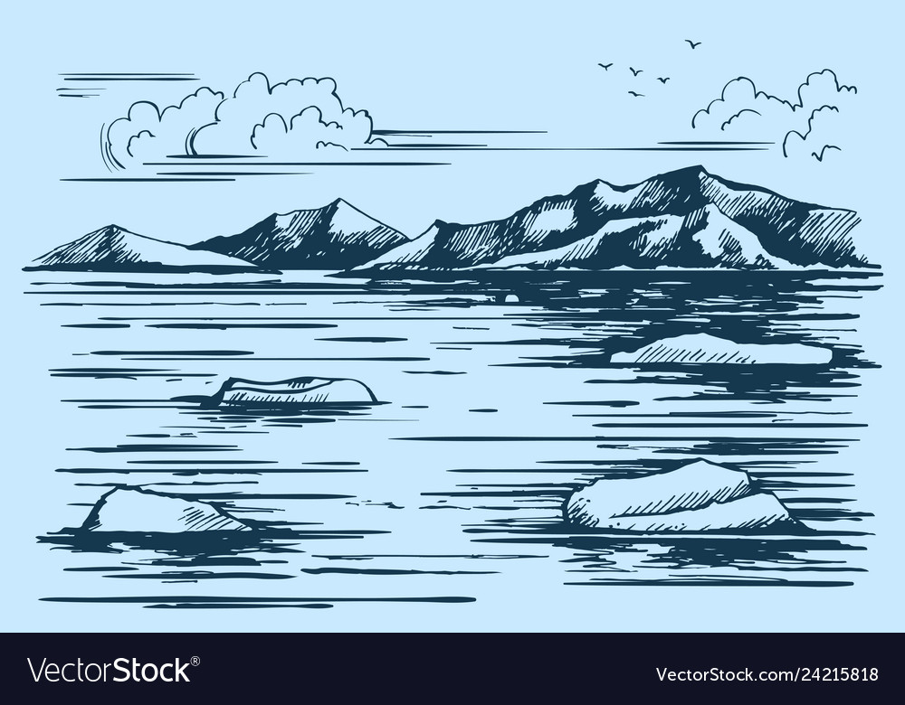 Antarctic continent sketch