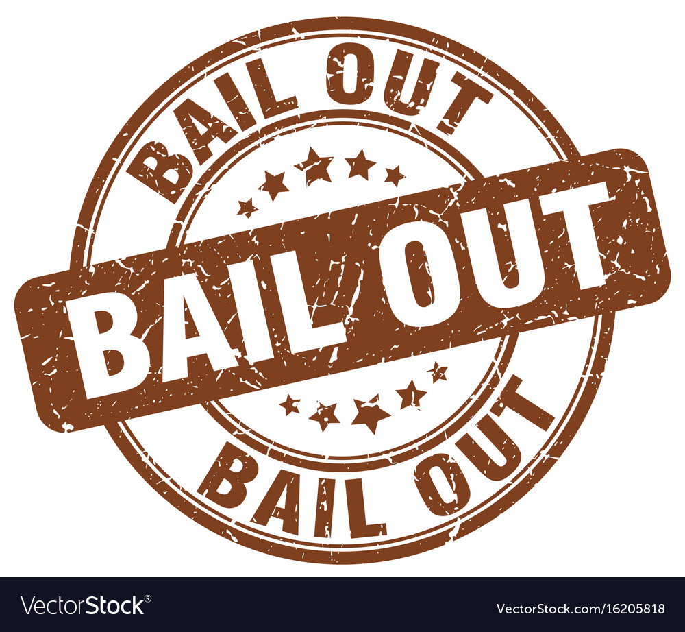 Bail out brown grunge round vintage rubber stamp vector image