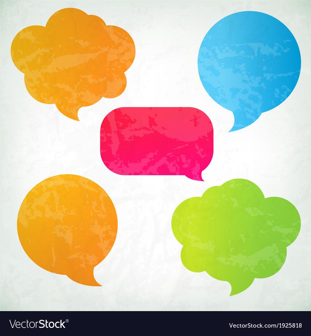 Colorful Vintage Speech Bubbles vector image