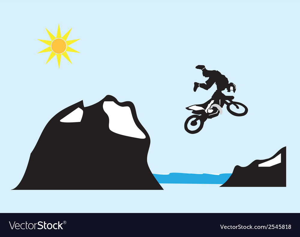 Jumping motorbike