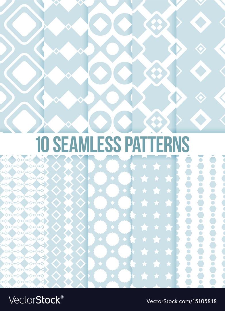 Ten seamless geometric patterns