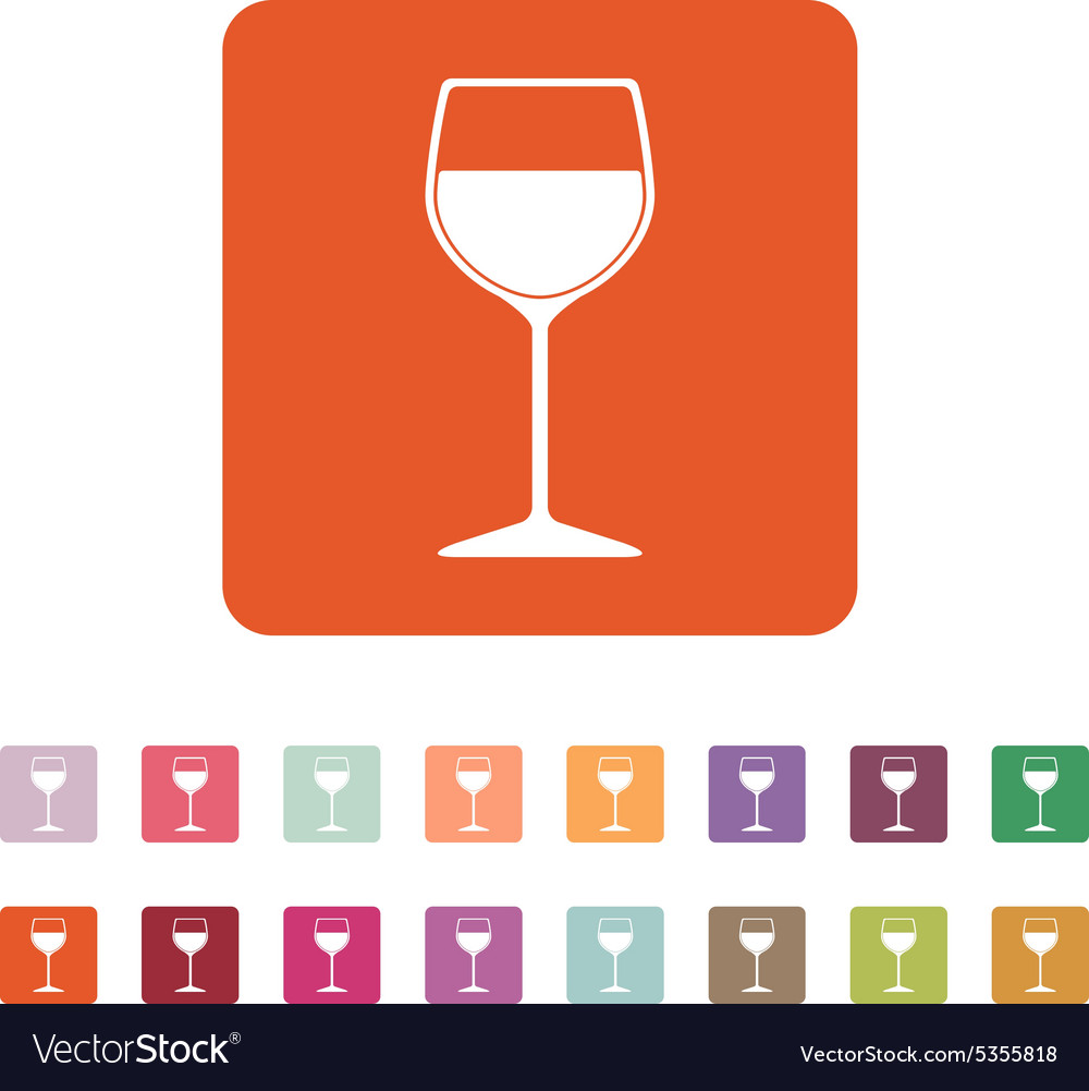 The wineglass icon Goblet symbol Flat