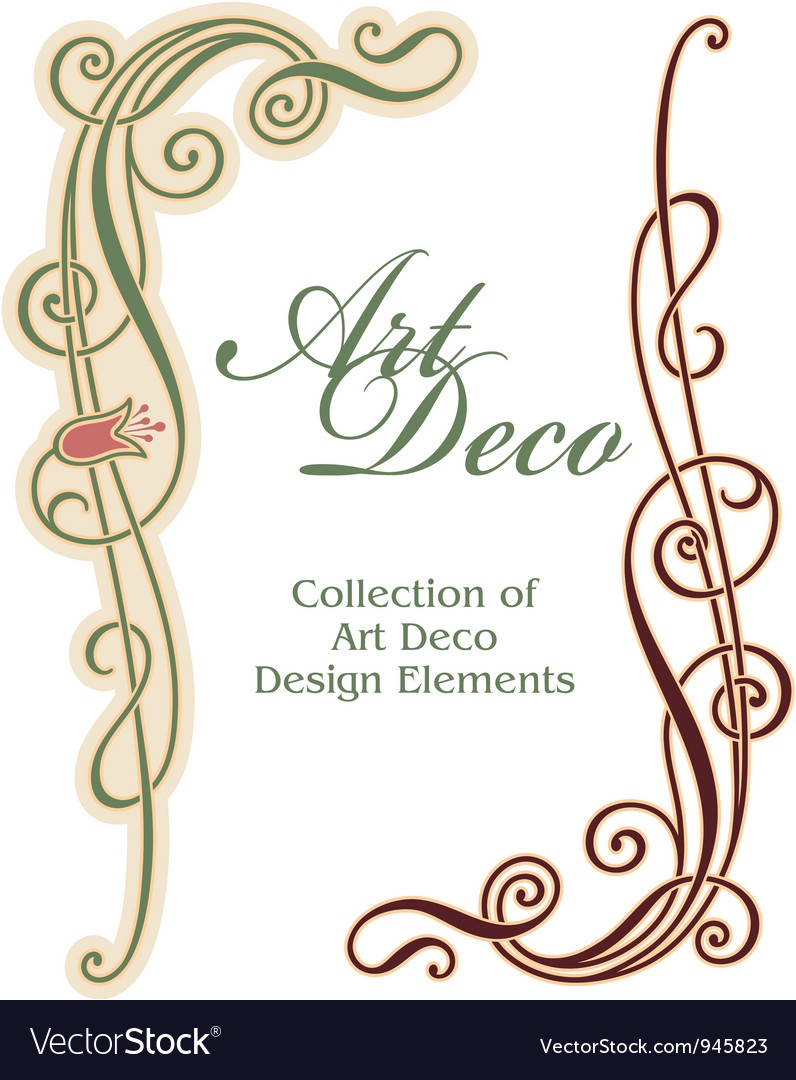 Art Deco Design Element - Corner vector image