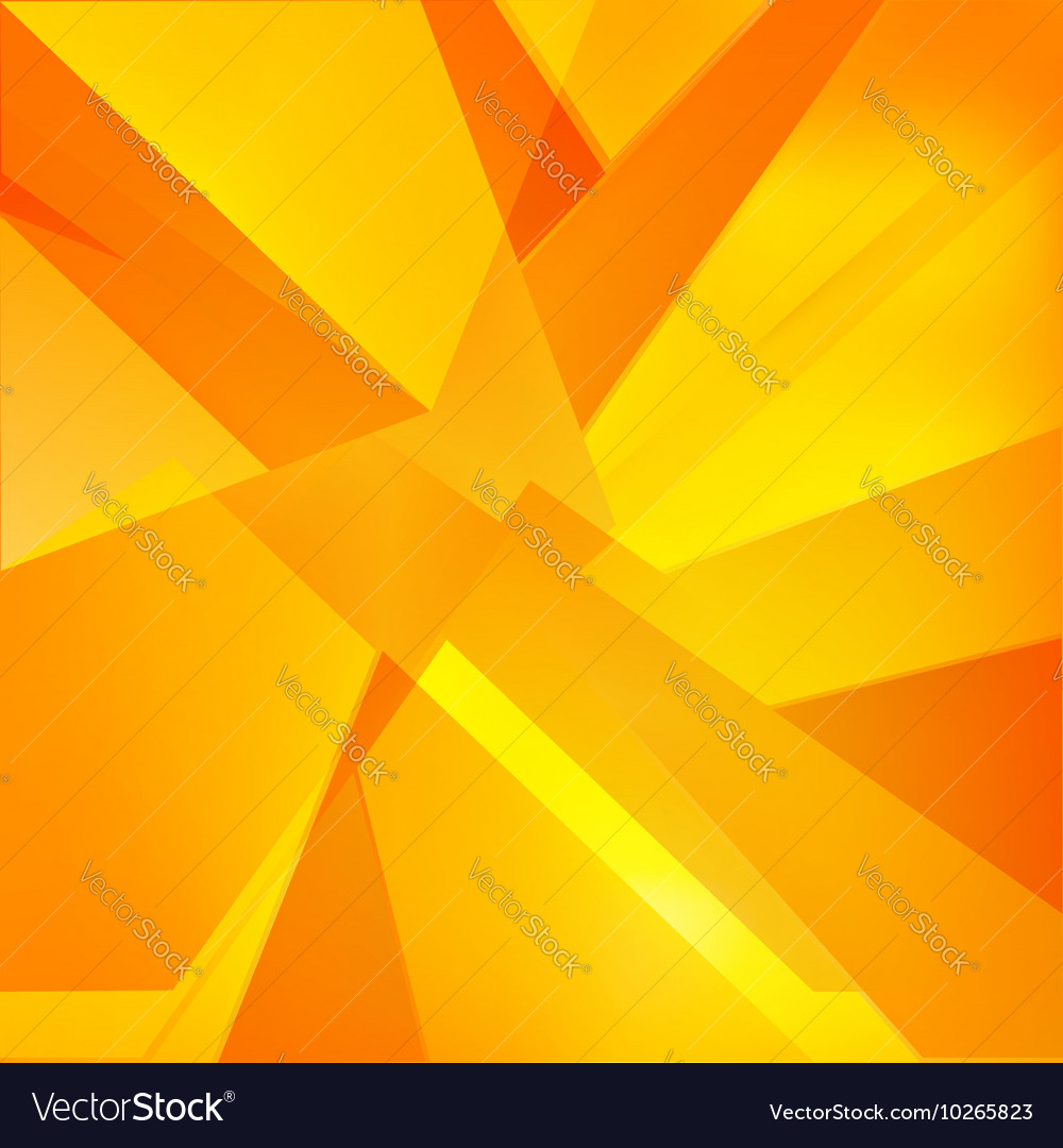 Autumn orange yellow and red abstract triangle