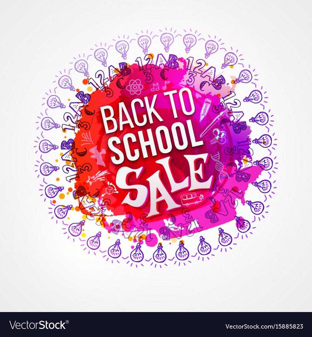 Back to school sale circle splash