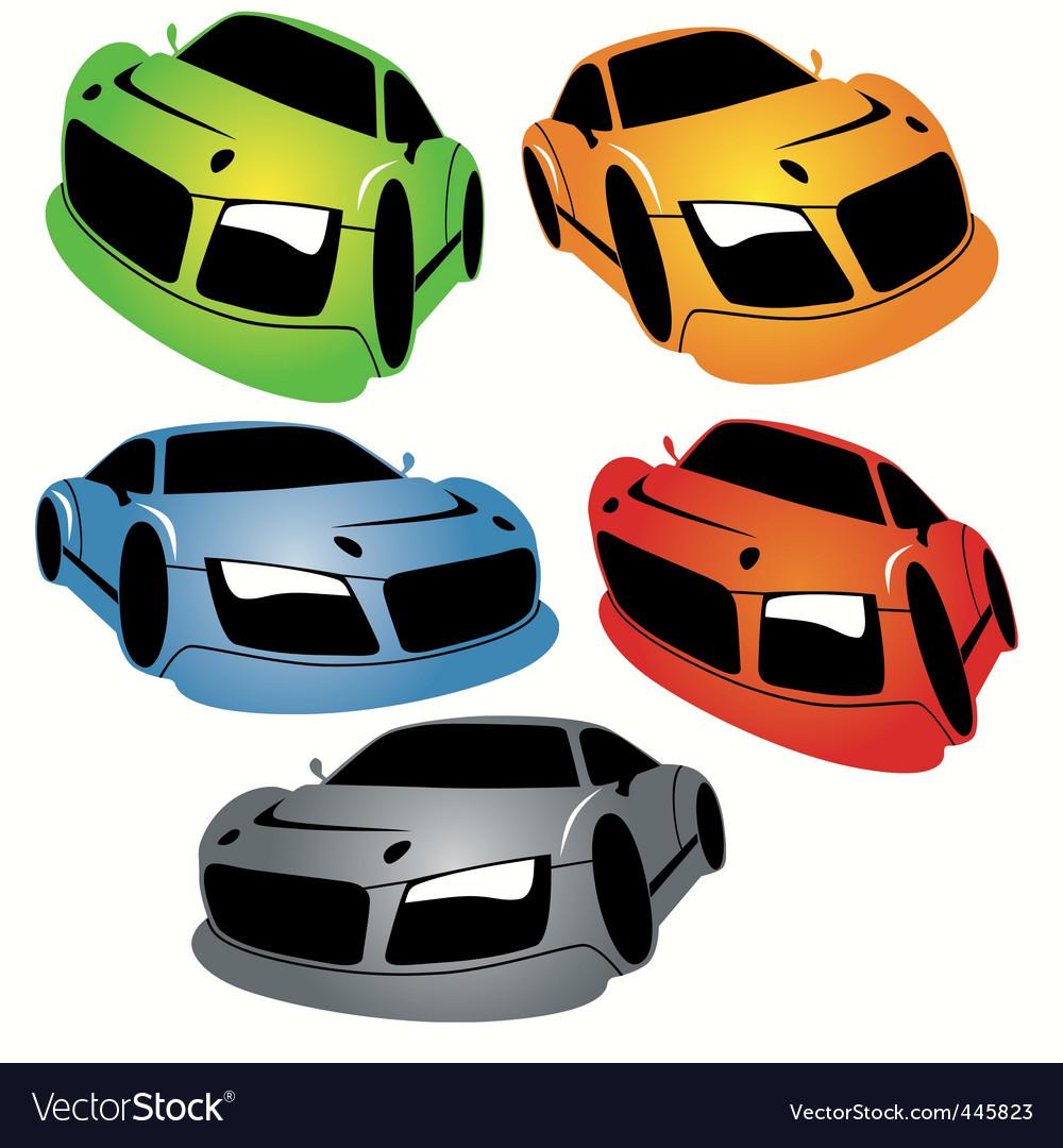 Cartoon style racing car vector image