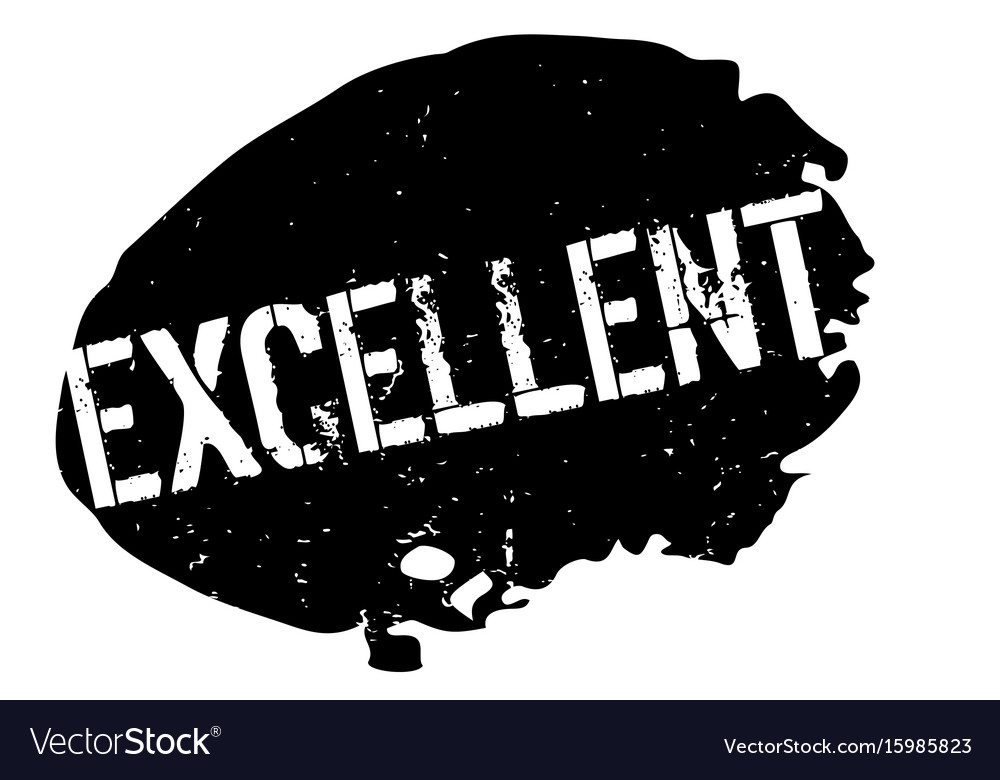 Excellent rubber stamp vector image