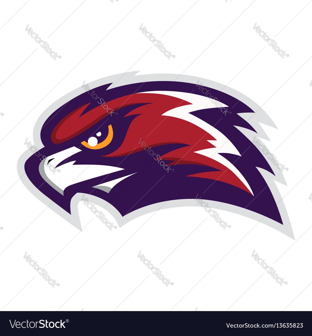Hawk head mascot logo vector image