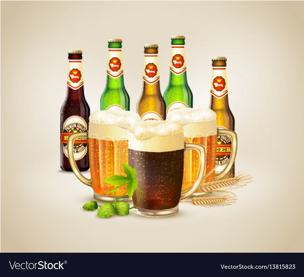 Realistic beer background