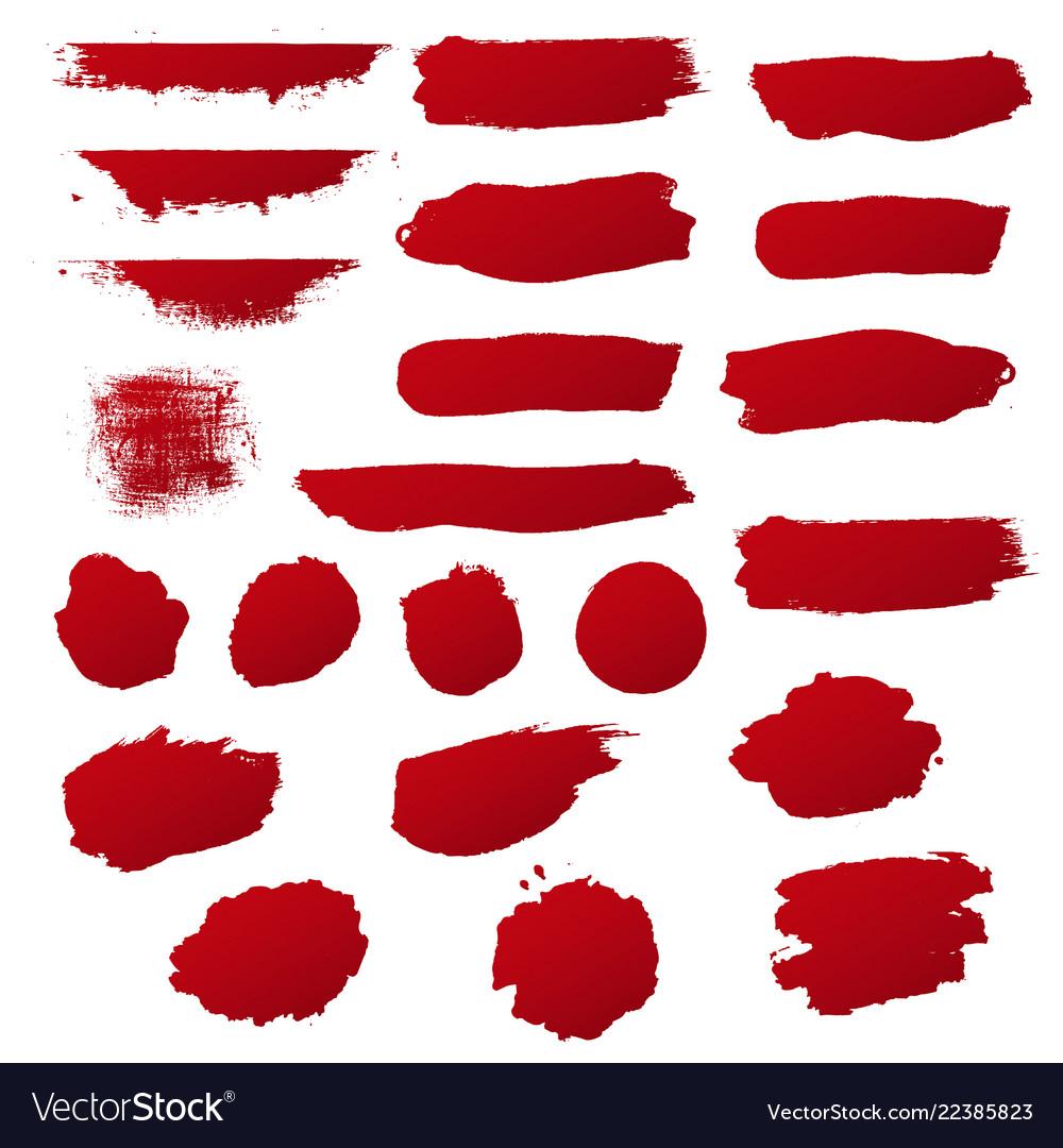Red blobs set