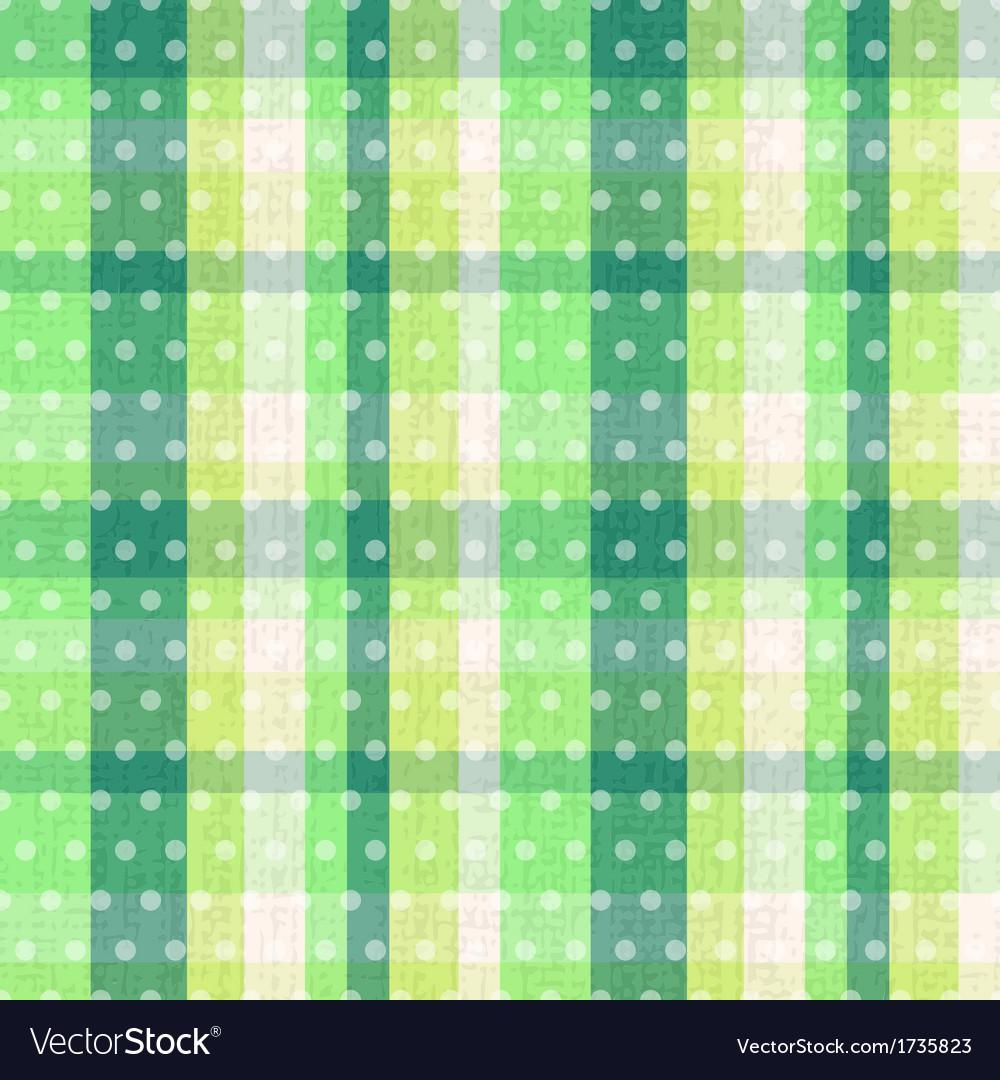 Seamless plaid dots texture