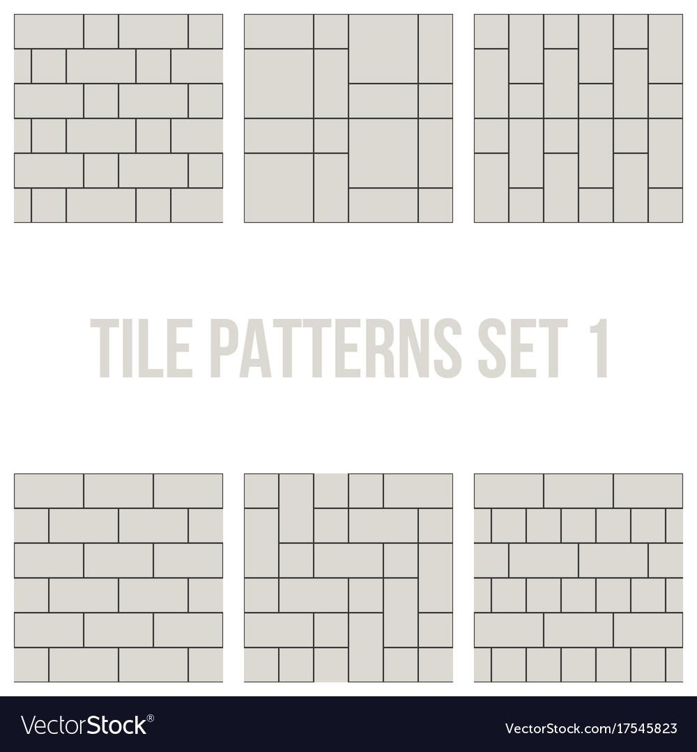 Thin Line Seamless Pattern Brick Tile
