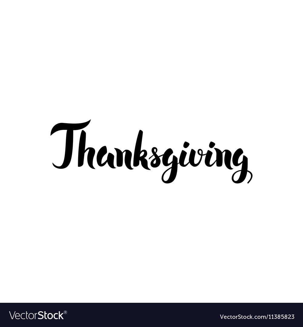 Thanksgiving handwritten calligraphy