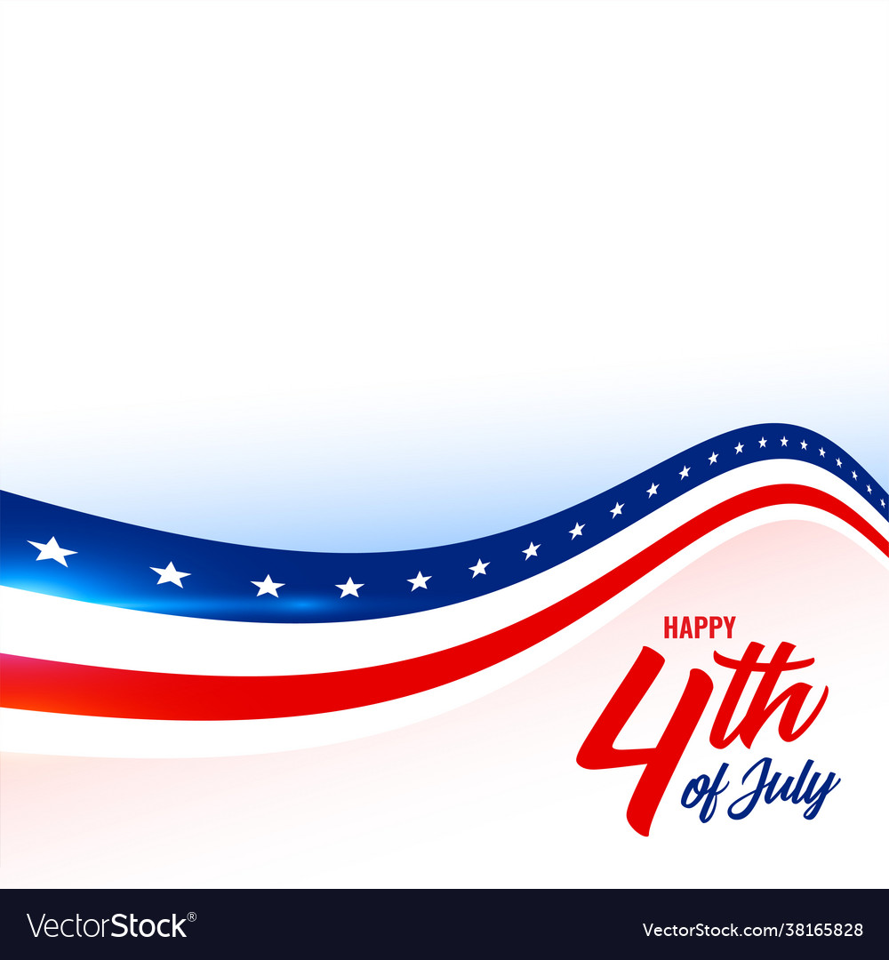 4th july american flag style background