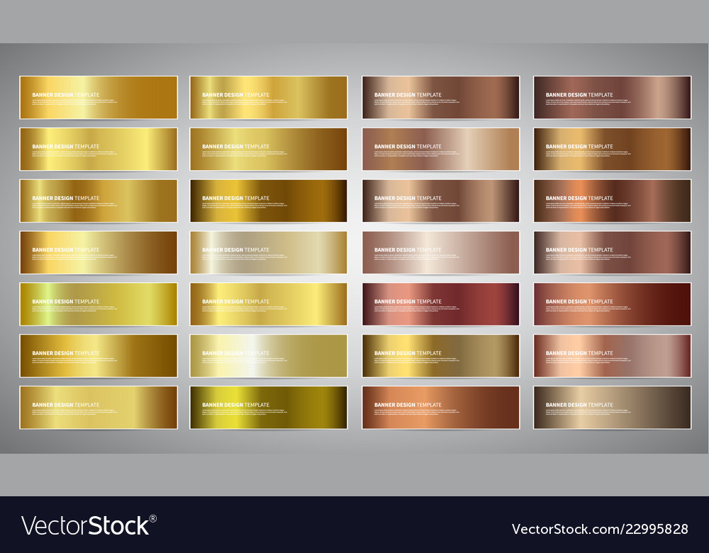 Banners with gold and bronze gradient